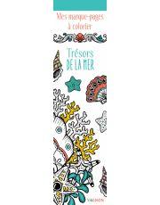 Mes marque-pages à colorier : Trésors de la mer