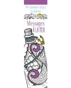 Mes marque-pages à colorier : Messages à la mer