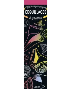 Mes marque-pages à gratter Coquillages